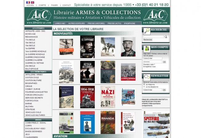 Librairie sur l'histoire militaire, l'aviation.