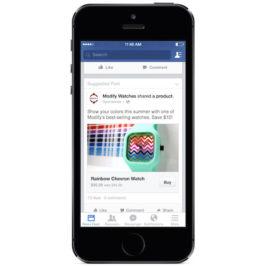 Facebook teste un bouton d'achat