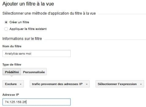 Filtrage Ip dans google Analytics- SEO