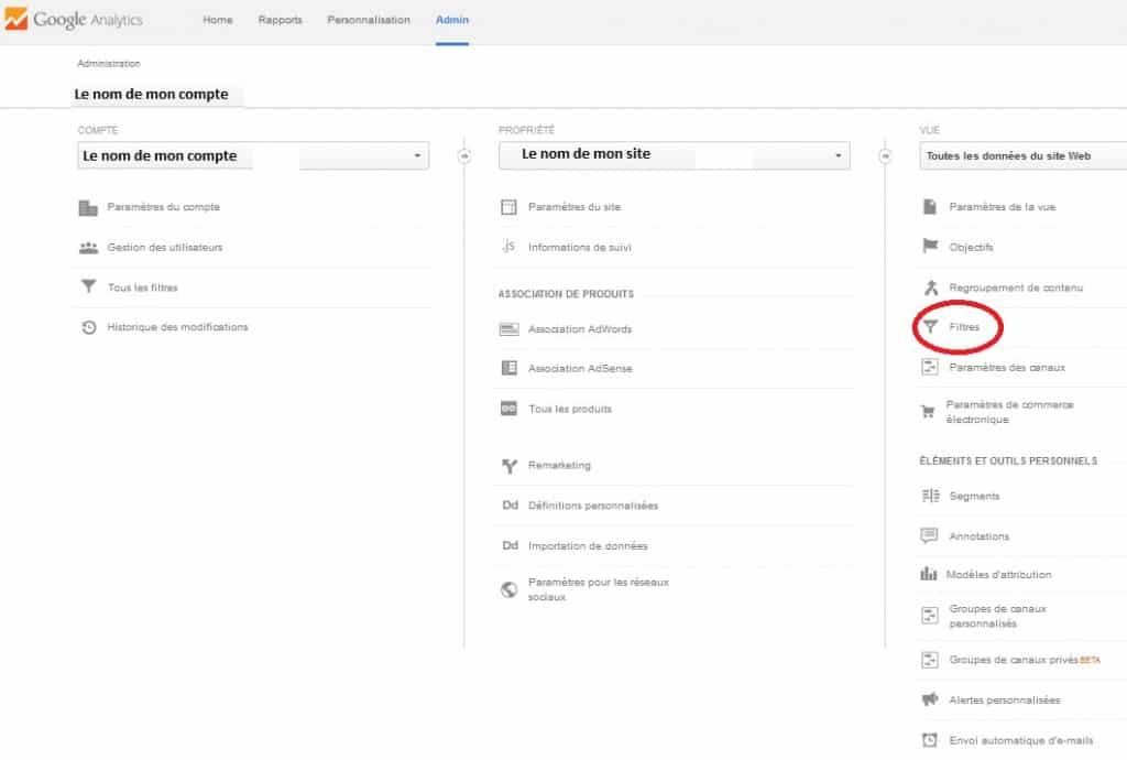 Filtre IP dans google Analytics