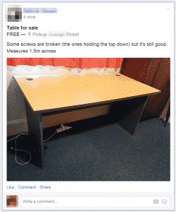 Un post facebook
