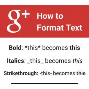 Formatage google