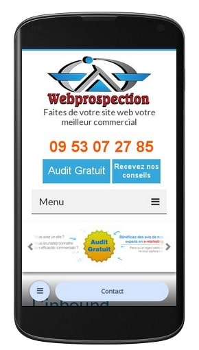 Version mobile de webprospection