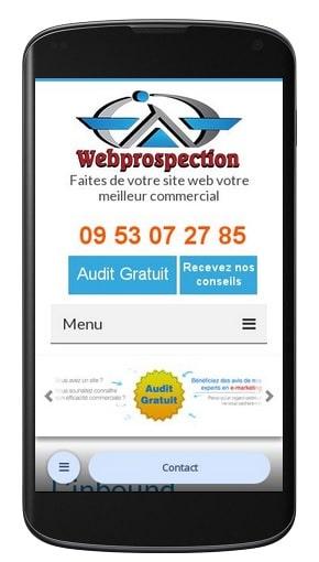 Version mobile de webprospection