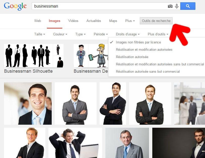 Recherche images gratuites Google