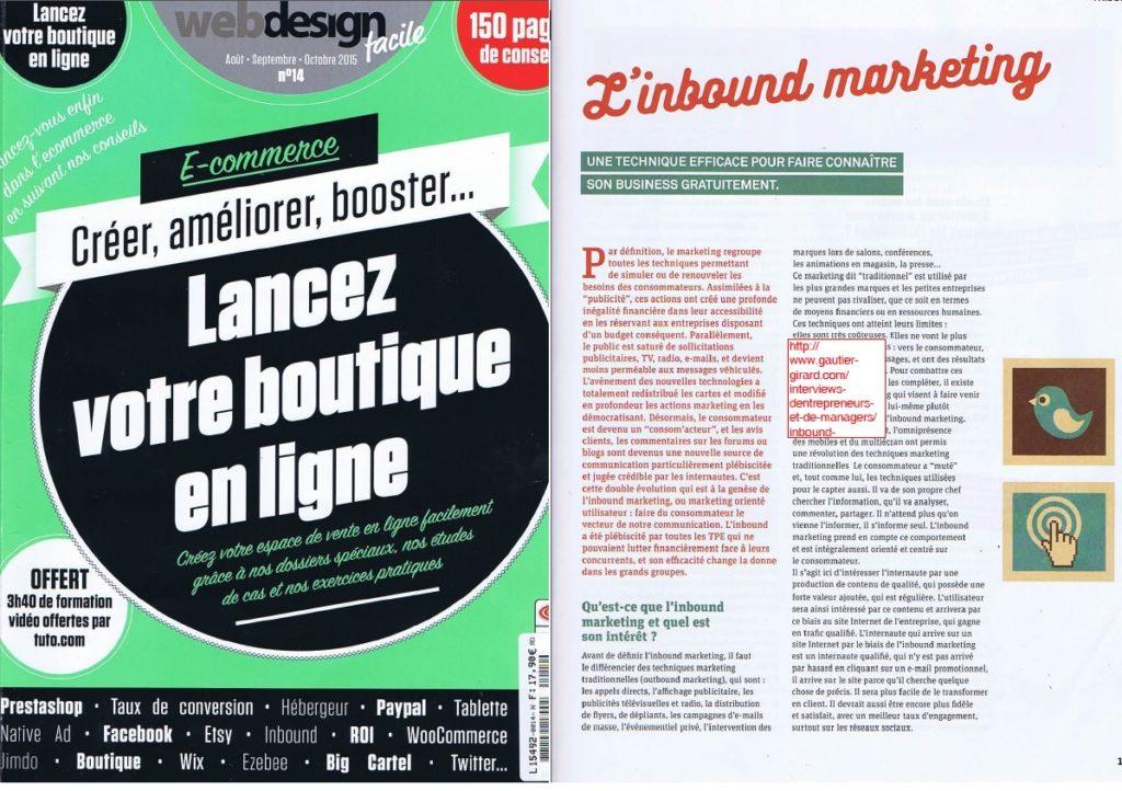 couverture-extrait-Inbound Marketing Une technique efficace pour faire connaitre son business gratuitement - Webprospection