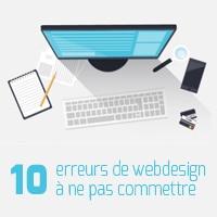 Les 10 erreurs de Web Design à ne pas commettre