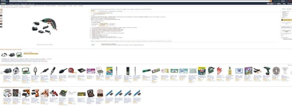 amazon produits complémentaires