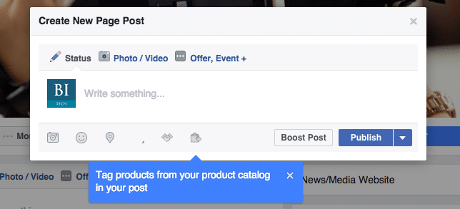 Taguez vos produits facebook
