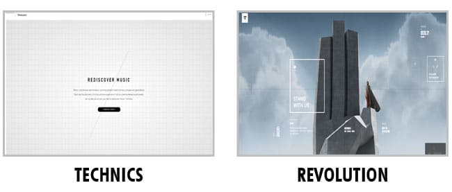 Exemple de Layout : Technics et Revolution