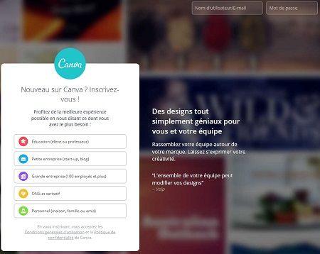 canva outils graphisme web