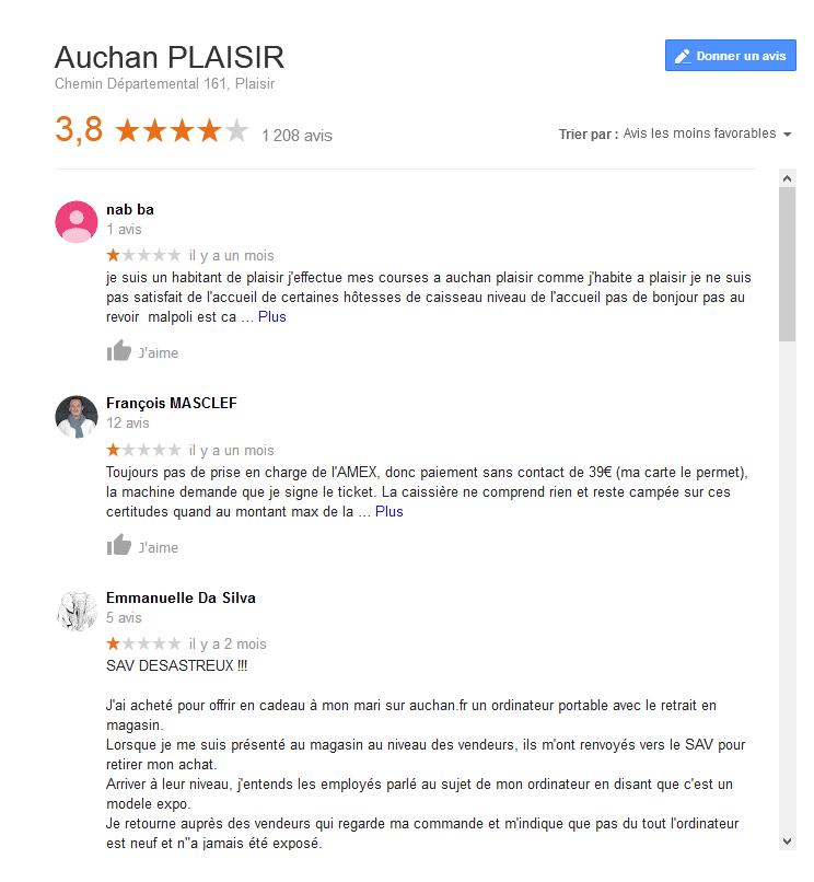 vrai avis négatifs google