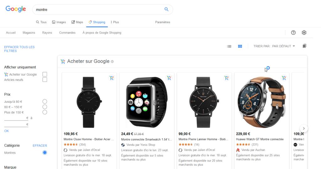 Marketplace Google shopping