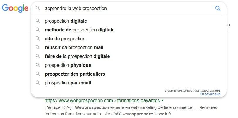 apprendre le webmarketing avec l'equipe webprospection