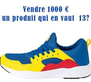 Vendre 1000€ un produit qui en vaut 13