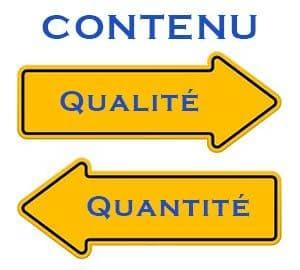 Contenu: Qualité ou quantité?